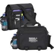 """Whether traveling by car, train or plane, this computer bag comfortably carries your laptop while keeping all the essentials organized. It's made from 600 denier polyester material and features a suspended, padded laptop compartment (fits up to 17"""" laptop), front compartment with pockets for cell phone, water bottle, multiple accessories and an adjustable / detachable, non-slip shoulder strap. This bag is certain to be a successful product."""